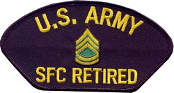 US Army SFC Retired Patches